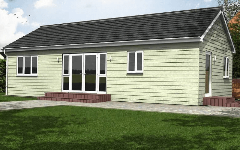 image shows a smaller two bed granny annexe called the Cadeby