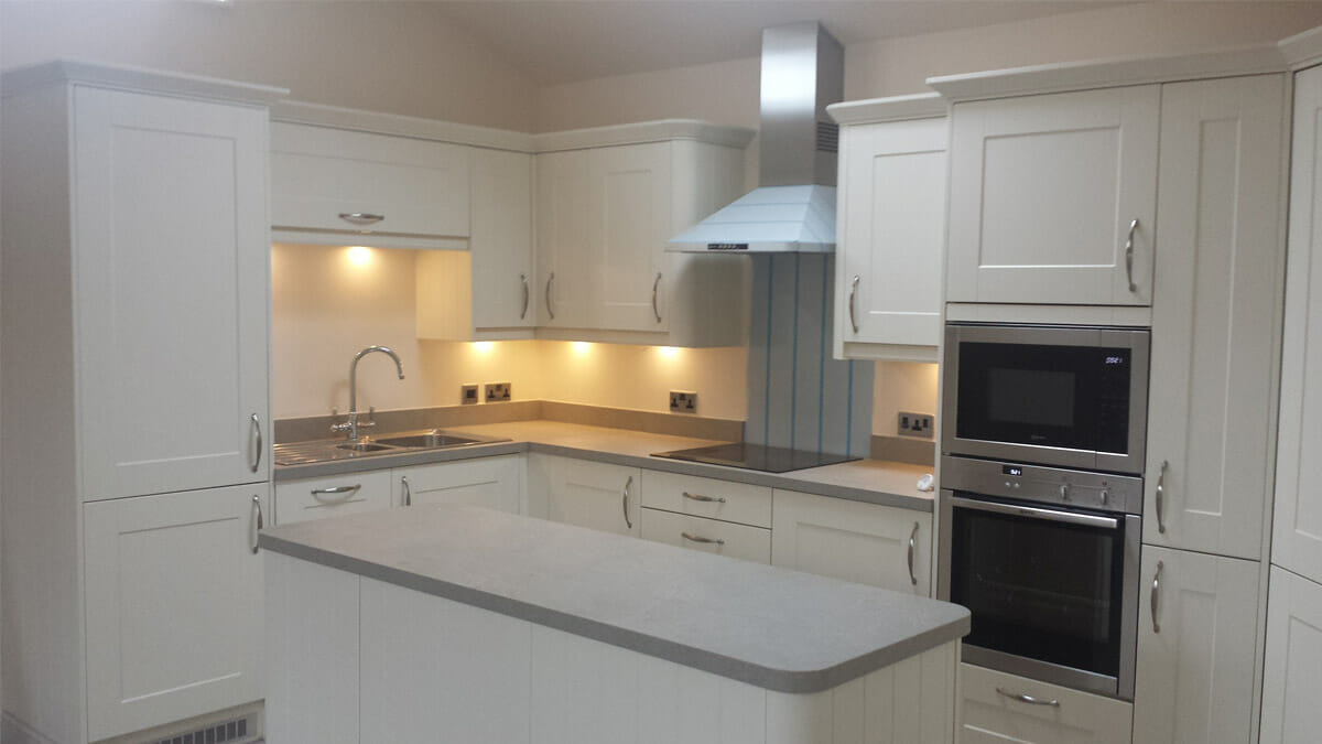 image shows a kitchen in ancillary accommodation