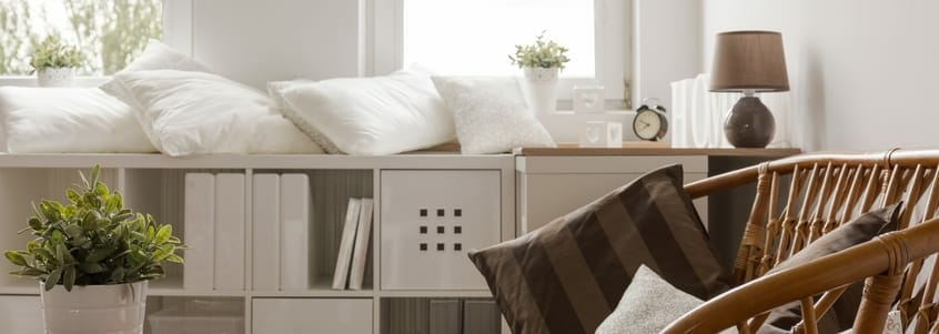 Small furniture with exposed legs is best for small living rooms