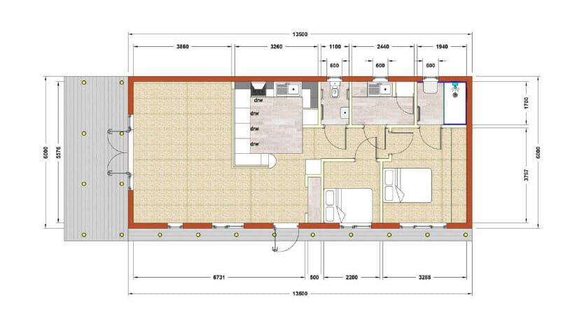 Giles annexe floorplan