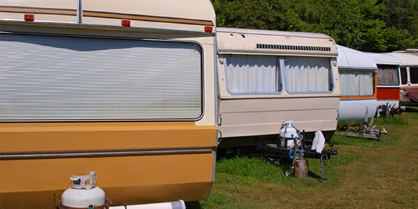 image of caravans for a blog about caravan act and granny annexes